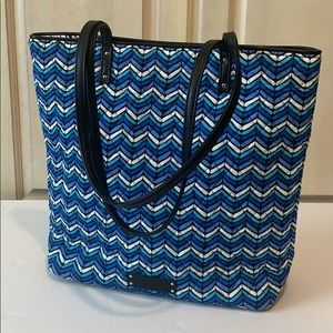 Vera  Bradley Tote - Trimmed in Faux Leather